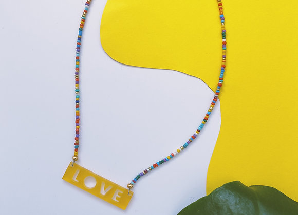 Love Hand-Beaded Necklace