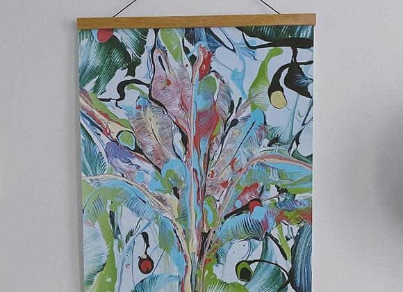 16x20 We Flourish Print with Wood Hanger