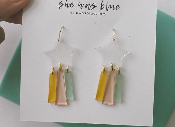 Rainbow Stars Earrings in Lucky Charm
