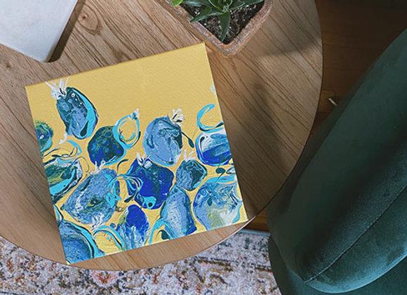 "Hello Sunshine, Original Acrylic on Canvas 8""x8"""