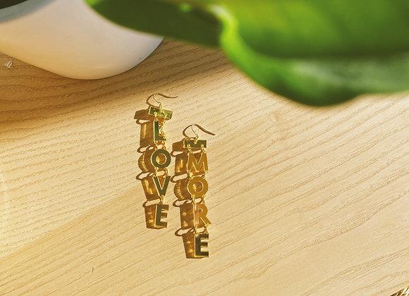 Love More Dangle Earrings