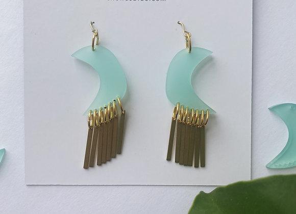 MoonChild Earrings in Blue