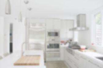 Hamptons Modern Kitchen Design, white kitchen, stainless steel appliances, white kitchen cabinets, modern kitchen in the hamptons