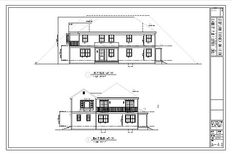 Exterior elevations sample drawing