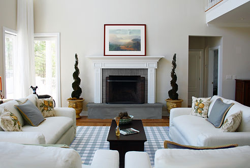 Barbara Feldman Interiors | Topiary, FireplaceDesign