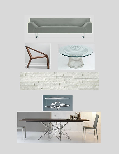 modern furniture colorboard mood board