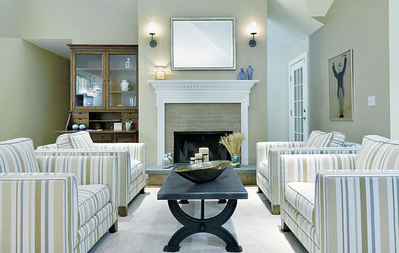 Barbrack chairs and fireplace after for