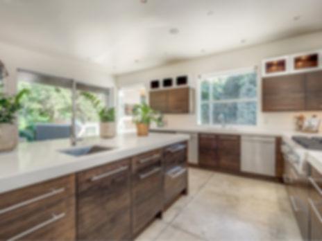 white chairs cement floor wood kitchen c