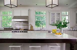 transitional kitchen white kitchen cabin