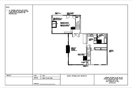 Sample demolition drawing to show walls that come down