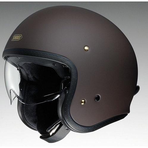 Shoei J.O. Openface Helmets Matt Brown