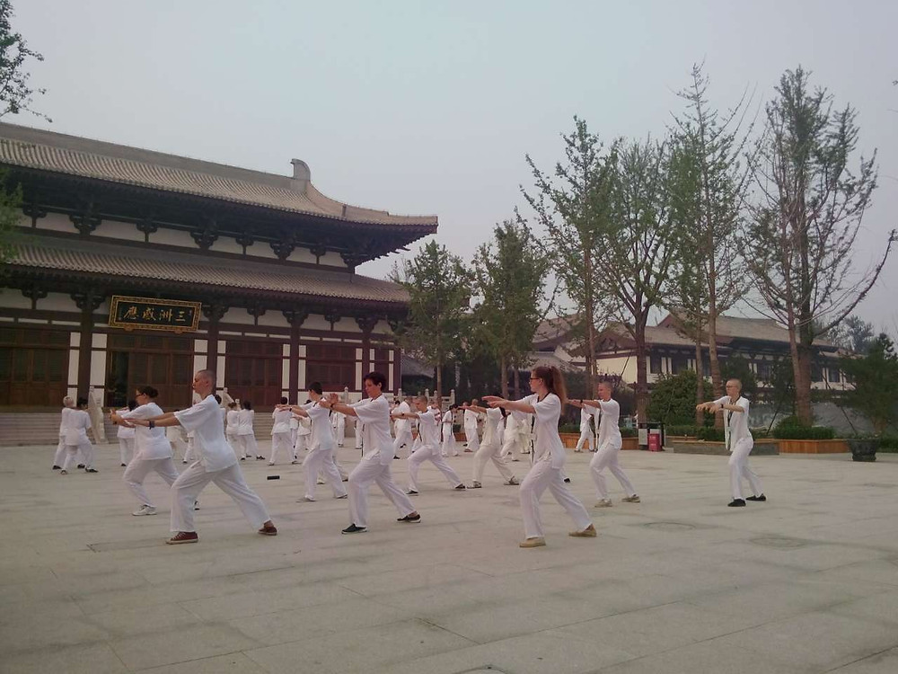 Taiji class at Longfu Temple