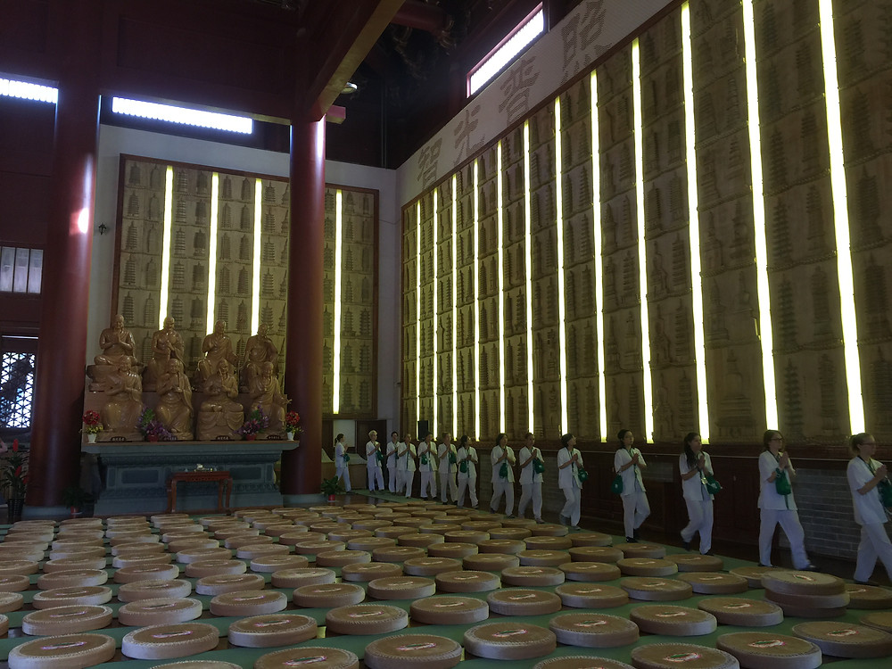 Circumambulating the main hall
