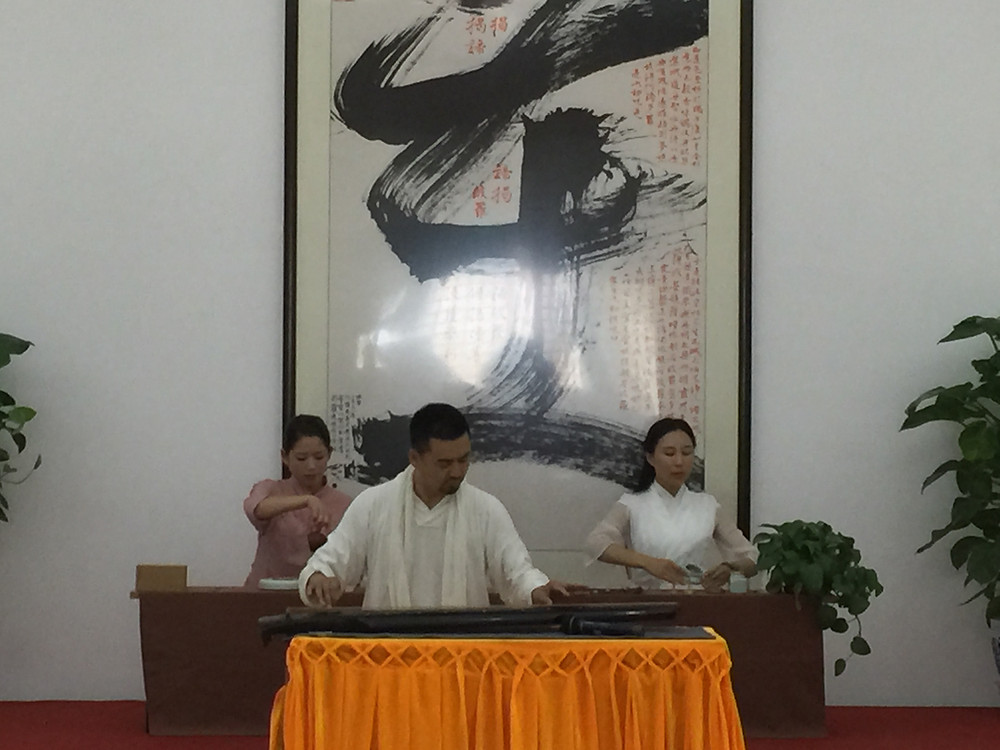 Wang Guangming performs on the Guqin