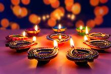 Indian festival Diwali, Diya oil lamps l
