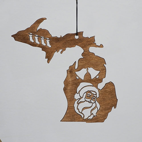 """Michigan Santa"" ornament"