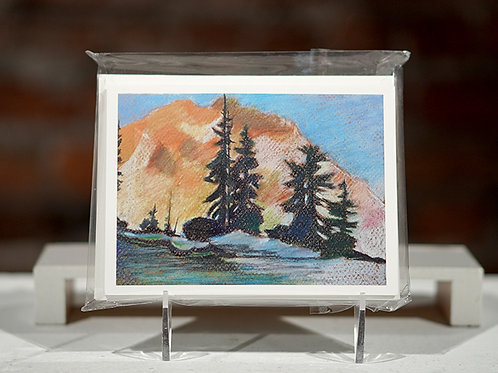 """Pine Trees and Mountains"""