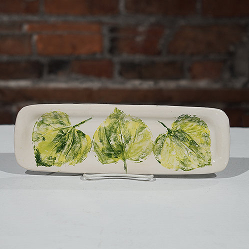"""""""Green Leaves""""Tray"""