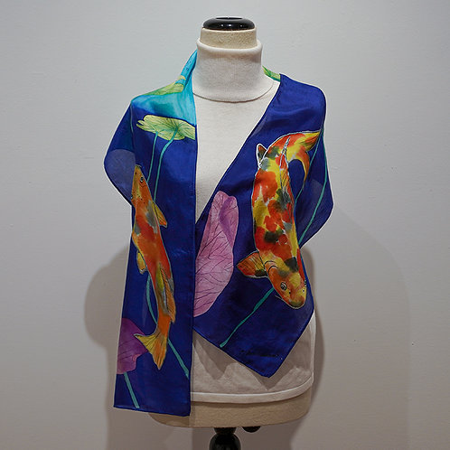 """""""Koi"""" silk scarf"""