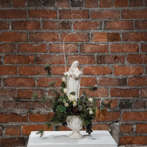 """Madonna and Child"" table top arrangement"
