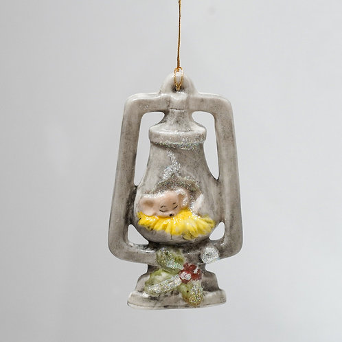Mouse in Lantern ornament