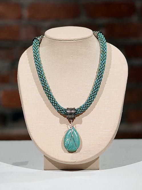 Turquoise Howlite Pendant Necklace