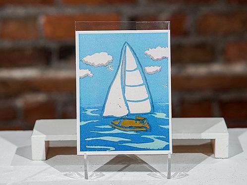"""Sailboat"" postcard"