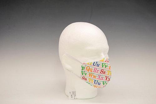 Small Alphabet Face Mask