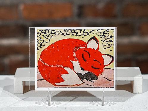 """Fox"" postcard"