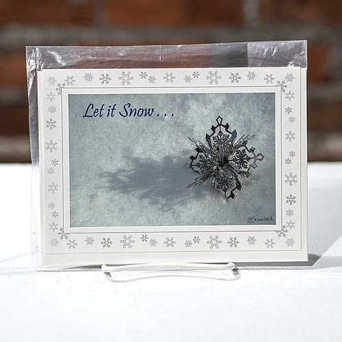 """""""Let it Snow"""" greeting card"""