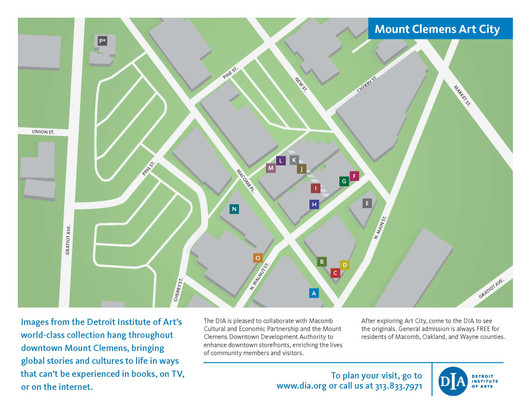 DIA & Mount Clemens Art City Exhibit