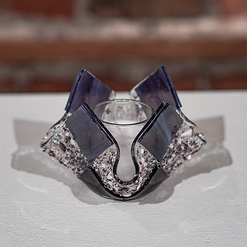 Purple glass votive