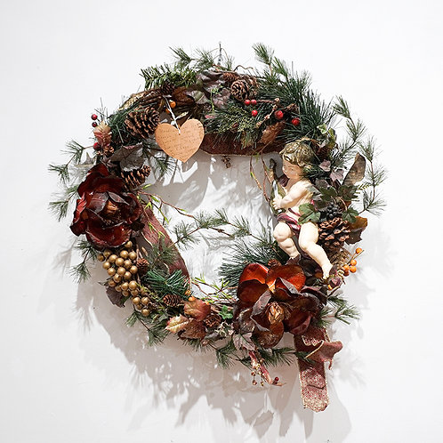 """Cherub"" wreath"