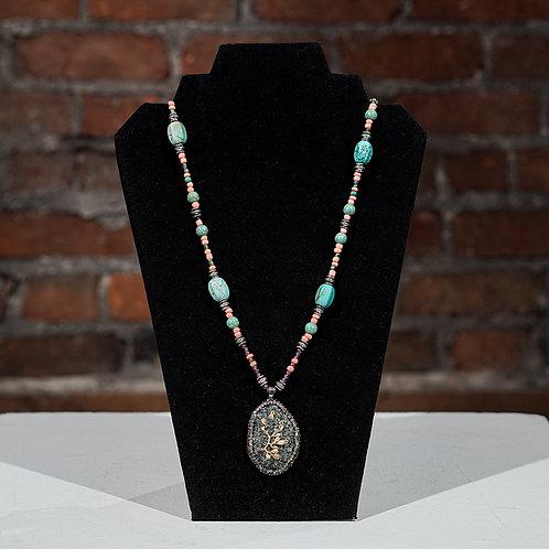 """""""Druzy"""" necklace"""