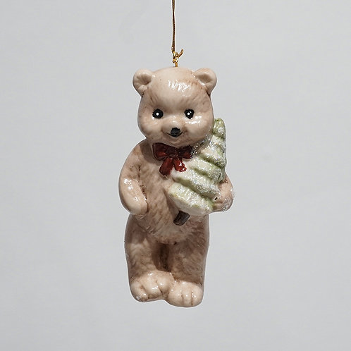 """""""Teddy with Tree"""" ornament"""