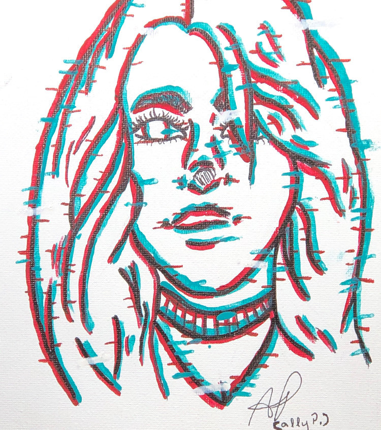 Billie Eilish - Glich - Acrylic (1)