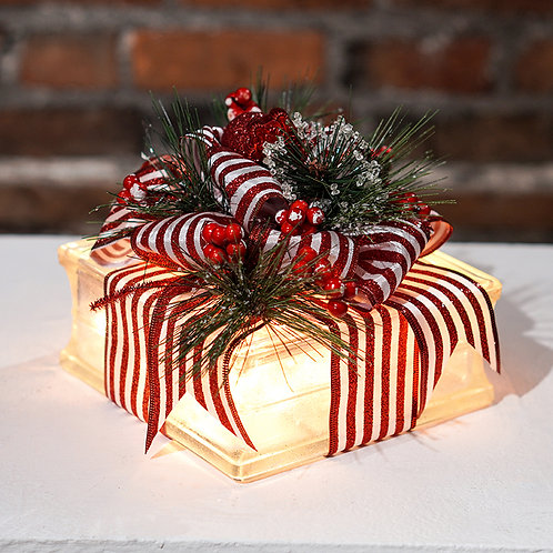 Holiday Lighted Glass