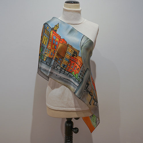 """""""People Mover"""" silk scarf"""