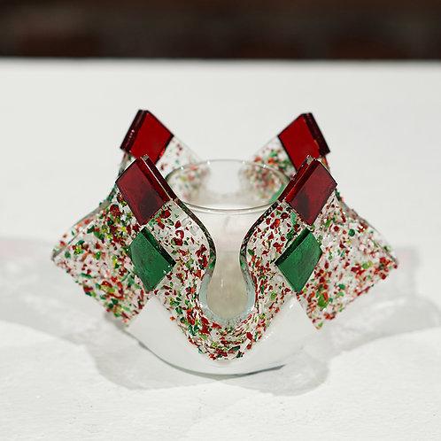 Holiday glass votive