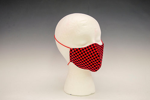 Small Red Check Face Mask
