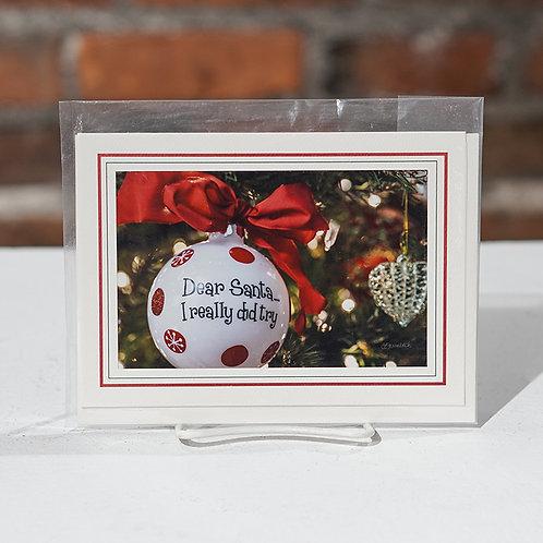 """Dear Santa"" greeting card"
