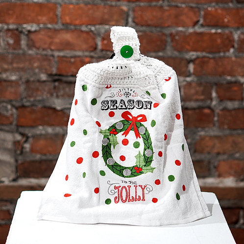 """Tis the Season"" decorative towel"