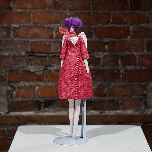 """Pink Angel"" Art Doll"