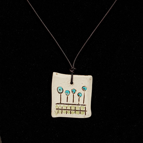 """Garden"" Ceramic necklace"
