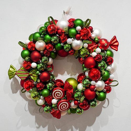 """Candy Christmas"" Wreath"