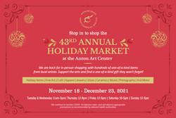 Anton Art Center - Holiday Market Postcard_Front_4x6