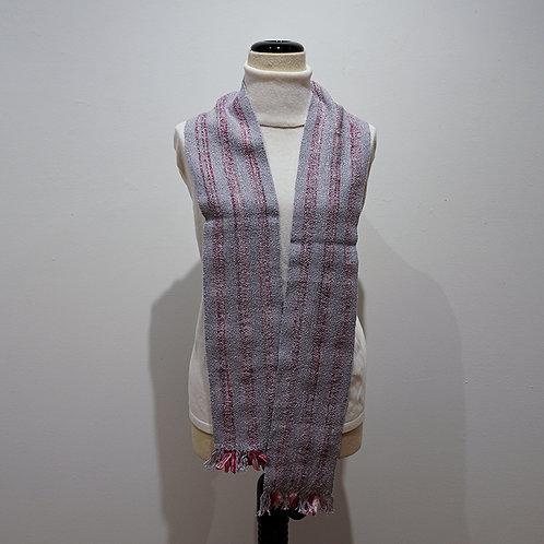 Lavender ribbon/yarn scarf
