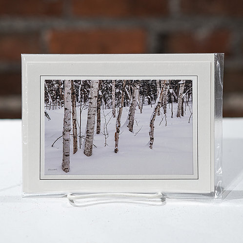"""Birches"" greeting card"