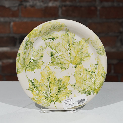 """Green Leaves"" plate"