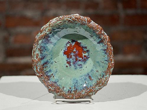 Textured ceramic bowl